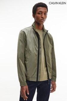 Calvin Klein綠色皺摺尼龍外套