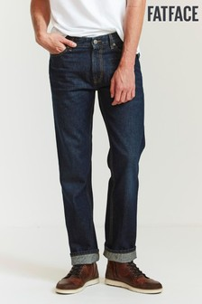 FatFace Blue Straight Dark Vintage Wash Jeans