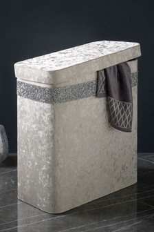 Harper Gem Velour Laundry Hamper