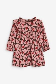 Animal Print Ruffle Yoke Dress (3mths-7yrs)