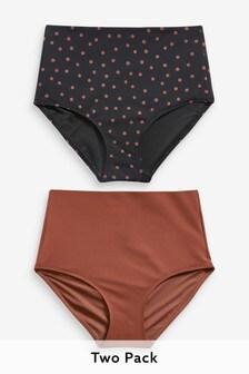 Bikinihose mit hoher Taille, 2er-Pack