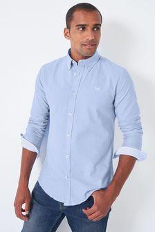 Crew Clothing Blue Crew Slim Oxford Shirt
