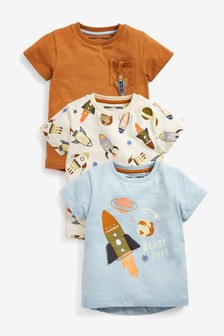 3 Pack Rocket T-Shirts (3mths-7yrs)