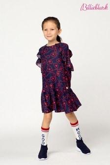 Billieblush Navy Heart Print Dress
