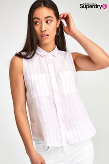 Superdry Pink Stripe Sleeveless Top