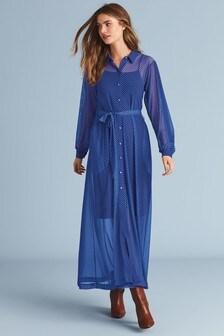 Сетчатое платье макси