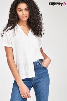 Superdry White Check Shirt