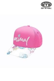 Animal Cap mit Blütendesign, Pink