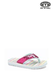 Animal Multicolour Swish Glitz Flip Flops