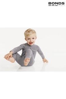 חליפה לתינוק עם רוכסן של Bonds בצבע אפור