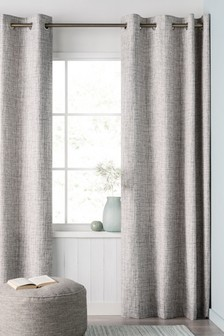 Printed Texture Eyelet Curtains