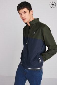 Непромокаемая куртка с воротником-стойкой в стиле цветных блоков