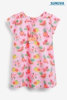Sunuva Pink Aloha Fruit Kaftan Beach Dress