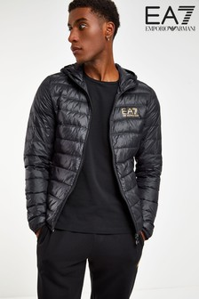 Emporio Armani EA7 Black Hooded Padded Jacket