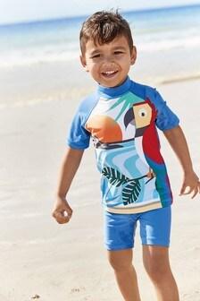 Солнцезащитный комплект с попугаем  (3 мес.-7 лет)