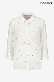 Белая льняная рубашка White Stuff Kirby