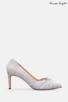 Серебристые туфли-лодочки Phase Eight Kendal