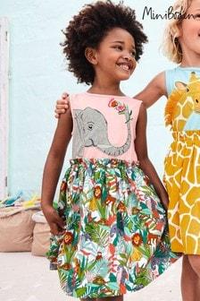 فستان ألوان متعددة بأبليك سافاري منMini Boden