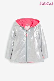Billieblush Silver Glitter Raincoat
