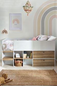 Parker White Storage Cabin Bed