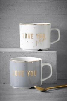 Set of 2 Love Mugs