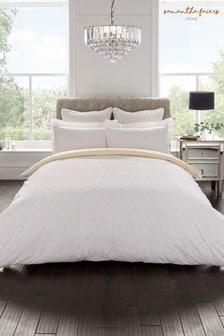 Komplet bawełniana poszwa na kołdrę i poszewka na poduszkę z geometrycznym wzorem Sam Faiers Thea