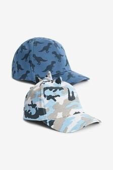 Набор кепок с шипами динозавра (2 шт.) (Младшего возраста)