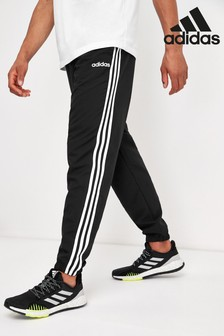 adidas Black Essentials 3 Stripe Joggers