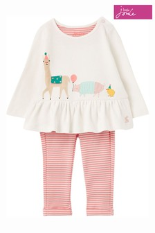 Joules Cream Olivia Organically Grown Cotton Appliqué Set
