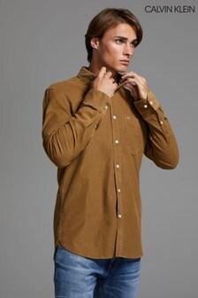 Calvin Klein Brown Fine Corduroy Shirt