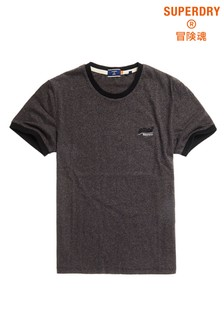 Superdry Ringer-T-Shirt, Anthrazit