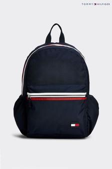 Синий однотонный детский рюкзак Tommy Hilfiger