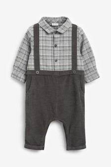 Smart Check Woven Romper (0mths-2yrs)