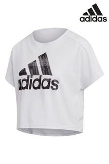 Белая спортивная футболка adidas ID