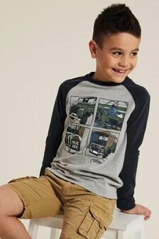 FatFace Land Rover T-Shirt, Grau