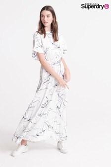 Superdry White Boat Edit Maxi Dress