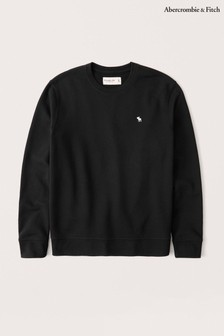 Abercrombie & Fitch Black Icon Crew Neck Sweater