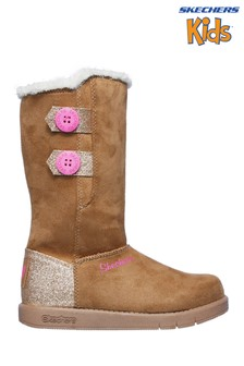 Skechers® Brown Sparkle Glam Cozy Princess Boots