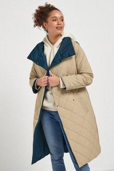 Стеганое двухстороннее пальто