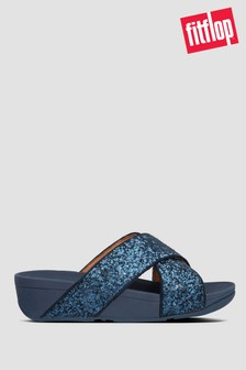 FitFlop™ Blue Lulu Glitter Slides