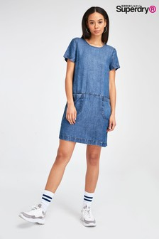 Superdry Denim T-Shirt Dress