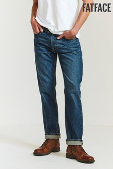 FatFace Blue Straight Mid Wash Jeans