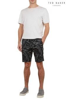 Ted Baker Ausral Shorts aus bedruckter Baumwolle, Blau