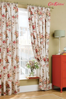 Cath Kidston® Garden Rose Floral Lined Curtains