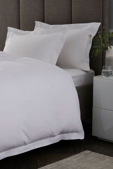 Cotton Rich Oxford Edge Duvet Cover and Pillowcase Set