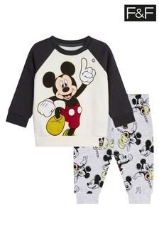 F&F Black Mickey™ Sweat And Jogger Set