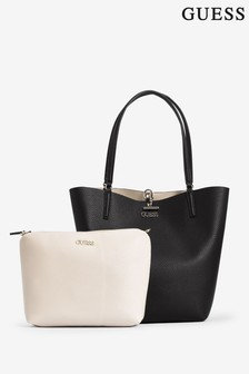Guess Black/Stone Alby 2 in 1 Tote Bag