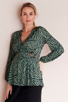Maternity Buckle Detail Blouse