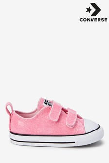 Zapatillas para bebé con 2 tira de velcro brillante de Converse