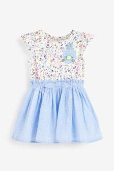Платье с аппликацией зайчика (3 мес.-7 лет)